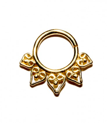 septum 10 1,2mm gold plated
