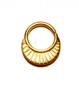 septum 9- 1,2mm- plain silver gold plated