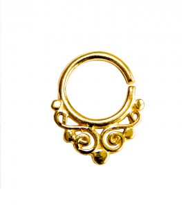 septum 11- 1,2mm- Plain silver gold plated