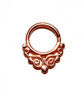 Septum 27- 1,2mm- Plain silver Rose gold plated