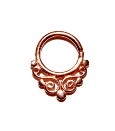 Septum 27 1,2mm plain silver Rose gold plated