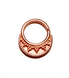 Septum 31-1,2mm- Plain silver Rose gold plated