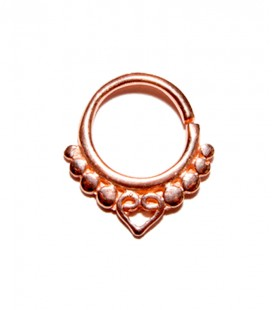Septum 32-1,2mm- Plain silver Rose gold plated