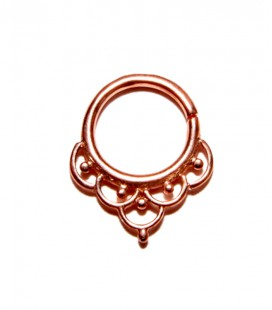 Septum 33 -1,2mm-Plain silver Rose gold plated