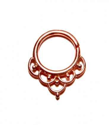 Septum 33 1,2mm plain silver Rose gold plated