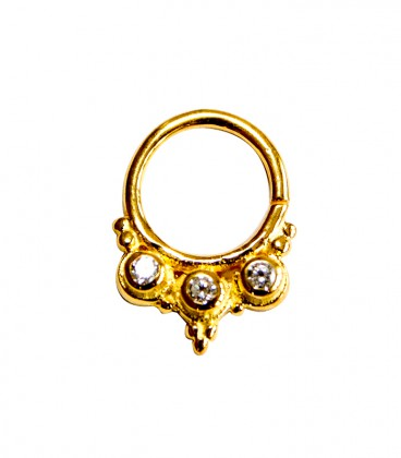 Septum 34 1,2mm plain silver gold plated