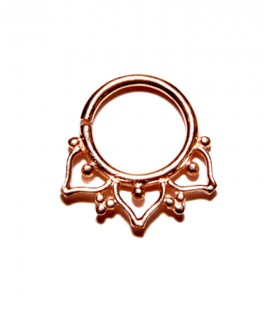 septum 62-1,2mm-Silver Rose gold plated