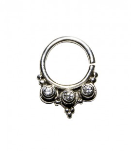 Septum 38- 1,2mm-Plain silver, clear zircon