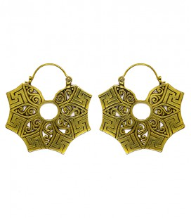 SWASTIKA EARING (brass) SOLD BY PAIR