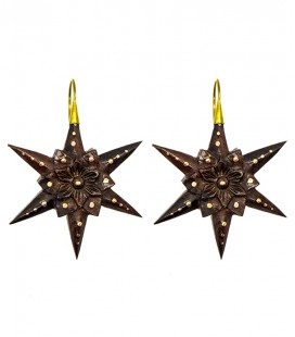 A STAR FLOWER IS BORN by S.HECHES(wood and brass)
