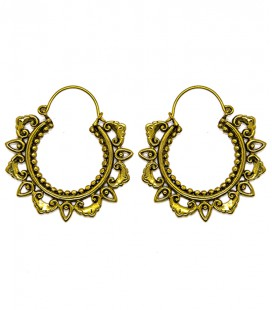 LOTUS TEMPLE (brass earing) ****SALES***SOLDES