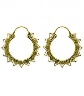 INDIAN LOTUS (brass earing)