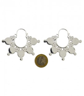 big brass dots earing silver plated