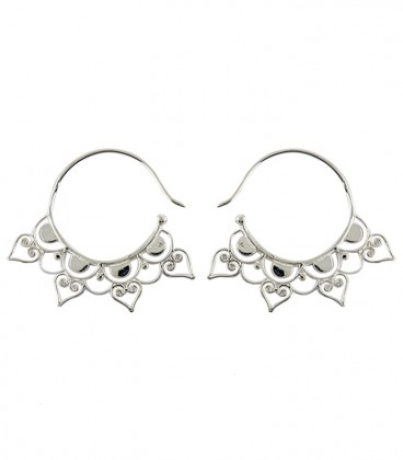 Lotus Brass earing silver plated