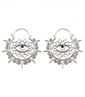 LOTUS EYES ( earing silver plated)