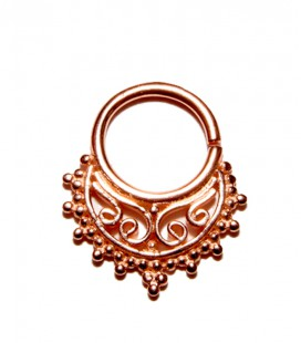 SILVER SEPTUM N°82.ROSE GOLD PLATED