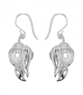 BIRD SKULL SILVER PLATED(open skull ,small beak)