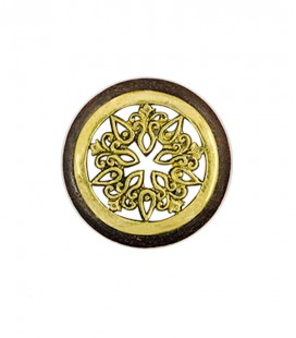 FLOWER MANDALA( brass sono wood plug)