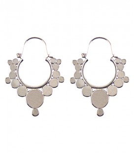 Small brass dots earing silver plated