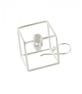 SKULL CUBE (BRASS SILVER PLATED)