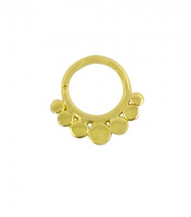 septum 6 -1,2mm-Plain silver gold plated