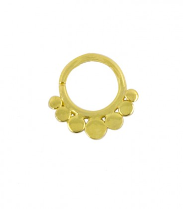 septum dots 6 1,2mm gold plated