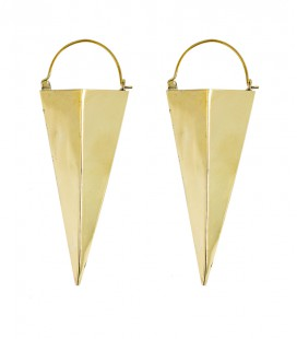 "COLLECTION "" ETHNIC GEOMETRIC"" by Sandrine Hêches (brass) LONG MODEL"