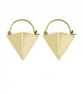 "COLLECTION "" ETHNIC GEOMETRIC"" by Sandrine Hêches (Small model in brass)"
