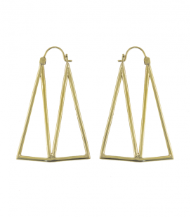 BRASS DESIGN EARRINGS by S.HECHES