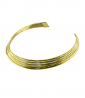 BRASS MULTI ROW NECKLACE ***only 2 left size M