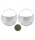 RISING SUN - BRASS SILVER PLATED EARRINGS