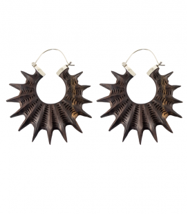 SPIKY (WOOD AND SILVER)