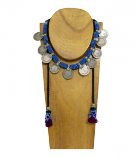 ANTIQUE COINS TRIBAL NECKLACE