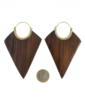 XXL COLLECTION - LOSANGES (BRASS WOOD)