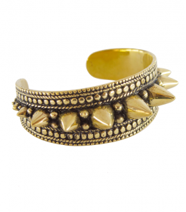 SPIKY TRIBE BRACELET -BRASS