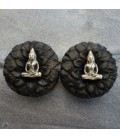 SMALL BOUDDHA ( brass and ebony wood )